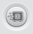 bitcoin safe box button icon vector image vector image