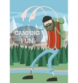 Cartoon cool lumberjack vector image