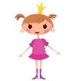 cartoon princess vector image vector image