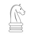 chess knight strategy icon suitable for info vector image