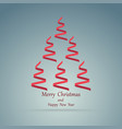 christmas ribbons in the form of a christmas tree vector image vector image