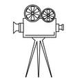 cinema film camera icon vector image vector image