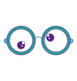 crazy eyes icon vector image vector image