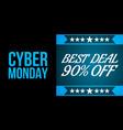 cyder monday shopping sale concept vector image vector image