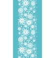 Decorative Snowflake Frost Vertical Seamless vector image vector image
