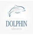 dolphin logotype Dolphin shores vector image