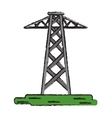 drawing electrical tower transmission energy power vector image
