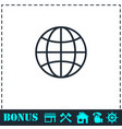 earth icon flat vector image vector image