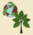 environmental campaing design vector image vector image