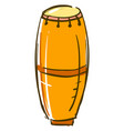 ethnic instrument drum on white background vector image vector image