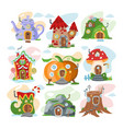 fantasy house cartoon fairy treehouse and vector image vector image