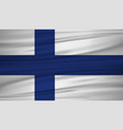 finland flag flag of finland blowig in the wind vector image