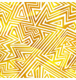 gold color maze seamless pattern vector image vector image