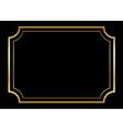 Gold frame Beautiful simple golden black vector image
