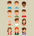 group of friends characters vector image