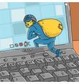 hacker steals information from computer vector image vector image