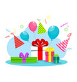 happy birthday card white vector image