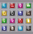 hi tech glass icons set vector image vector image