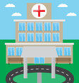 Hospital building design flat vector image vector image