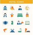 Hotel travel flat icons set vector image vector image