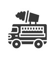 ice cream truck food truck solid style icon vector image vector image