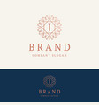j brand logo vector image vector image