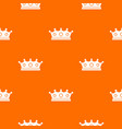 jewelry crown pattern seamless vector image vector image