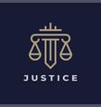justice law logo icon vector image