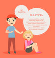 kids bullying aggressive vector image vector image