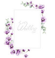 lavender summer frame watercolor card backgrounds vector image vector image
