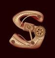 letter s of mechanic alphabet steampunk font vector image vector image
