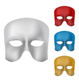 Mask set vector image