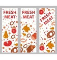 Meat banner set flat style board flyer vector image vector image