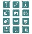 medicine icons teal series vector image vector image