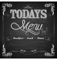 Menu written on Chalkboard vector image vector image