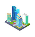 modern city real estate isometric 3d icon vector image vector image
