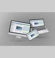 modern desktop personal computer laptop and vector image vector image