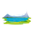 mountain lake landscape vector image vector image