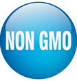 non gmo blue round gel isolated push button vector image vector image