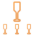 Orange line bar logo design set vector image vector image