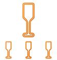 Orange line bar logo design set vector image vector image