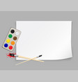 paper template and brush vector image vector image