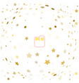 random falling gold stars on white background vector image vector image