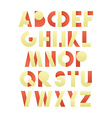 Retro font in red and yellow Beige alphabet vector image vector image
