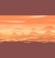 sandstorm on mars landscape game background vector image vector image