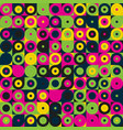 seamless geometric pattern with circles colorful vector image vector image