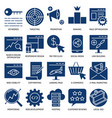 seo services icon set in flat style vector image