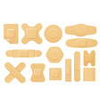 set isolated elastic bandage patch vector image vector image
