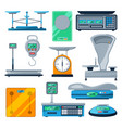 set of different types of scales vector image vector image