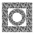 Set of patterns and framework leaves vector image